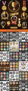 Premium Quality Badges Collection vector