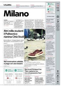 la Repubblica Milano - 14 Gennaio 2018