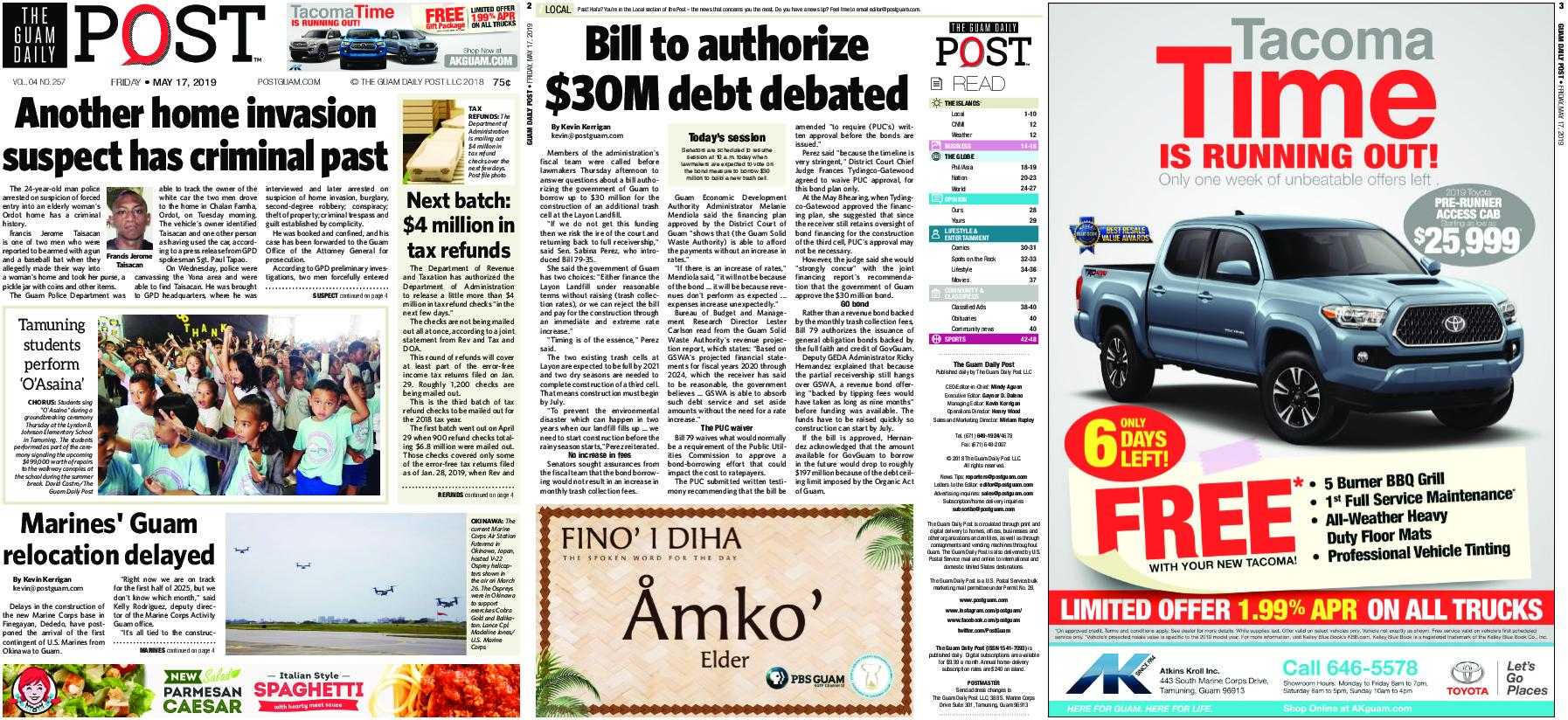 The Guam Daily Post – May 17, 2019