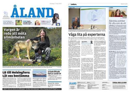 Ålandstidningen – 27 maj 2020