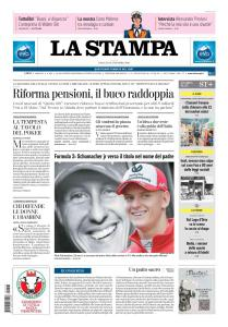 La Stampa Torino Provincia e Canavese - 13 Ottobre 2018
