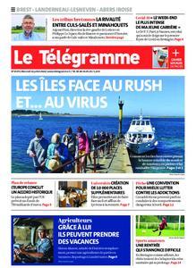 Le Télégramme Brest Abers Iroise – 22 juillet 2020