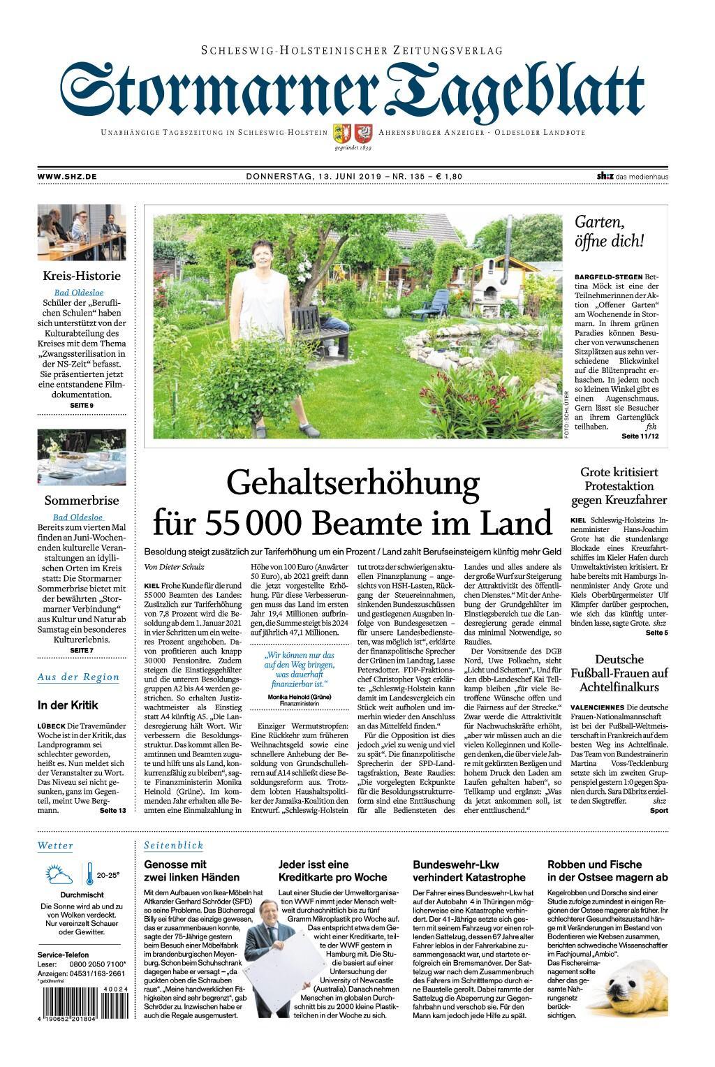 Stormarner Tageblatt - 13. Juni 2019
