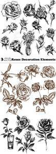 Vectors - Roses Decoration Elements