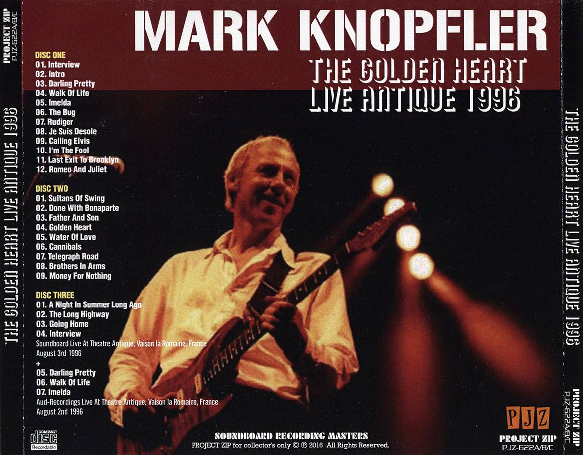 Mark Knopfler - The Golden Heart: Live Antique 1996 (2016) 3CDs [Unofficial Release]