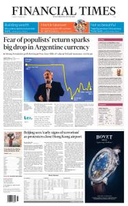 Financial Times Asia - August 13, 2019