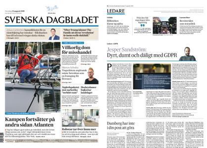 Svenska Dagbladet – 15 augusti 2019