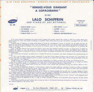 Lalo Schifrin - Rendez-vous Dansant a Copacabana (1955) {Vogue-Sony Music Mini LP Replica 88725443772-19 rel 2013}