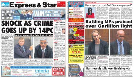Express and Star Sandwell Edition – January 26, 2018