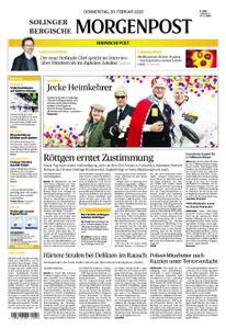 Solinger Morgenpost – 20. Februar 2020