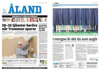 Ålandstidningen – 27 januari 2018