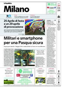 la Repubblica Milano – 20 aprile 2019