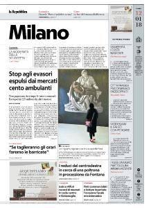 la Repubblica Milano - 12 Gennaio 2018