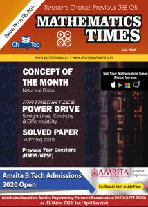 Mathematics Times - January 2020