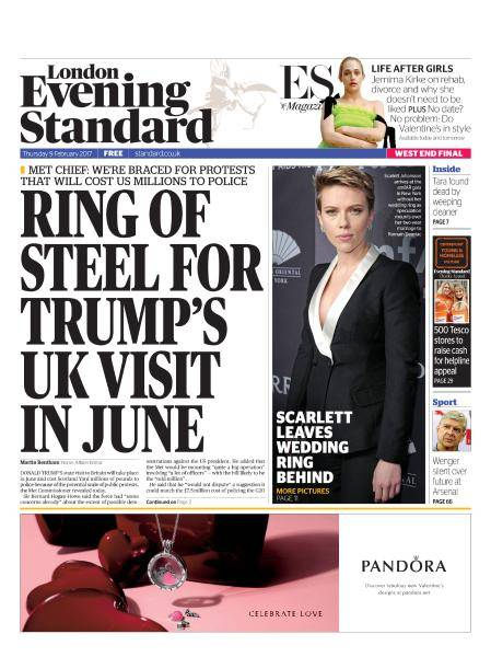 London Evening Standard - 9 February 2017