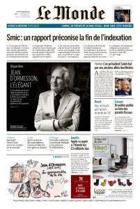 Le Monde du Mercredi 6 Décembre 2017