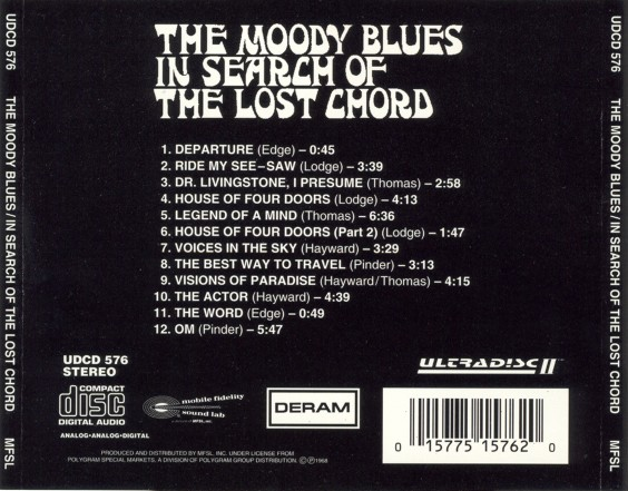 Moody Blues - In Search Of The Lost Chord - MFSL