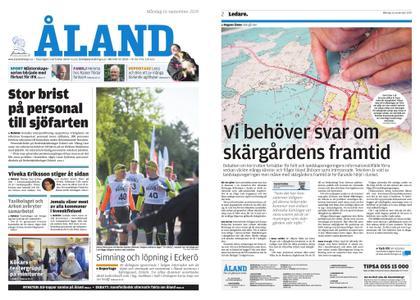 Ålandstidningen – 16 september 2019