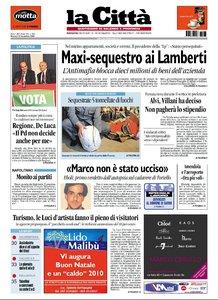 LA CITTA DI SALERNO 22 DICEMBRE 2009