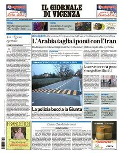Il Giornale Di Vicenza - 4 Gennaio 2016