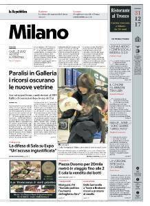 la Repubblica Milano - 31 Dicembre 2017