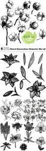 Vectors - Floral Decoration Elements Mix 38