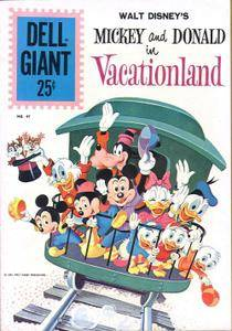 Dell Giant 47 Dell Aug 1961 WDs Mickey and Donald in Vacationland BC upgrade IBC cut