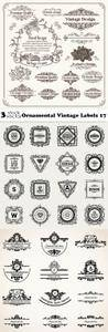 Vectors - Ornamental Vintage Labels 17