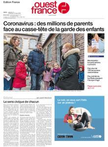 Ouest-France Édition France – 14 mars 2020