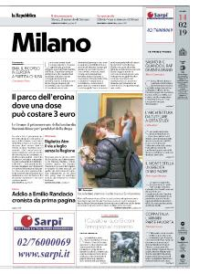 la Repubblica Milano - 14 Febbraio 2019