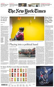 International New York Times - 26 October 2018