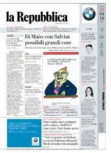 la Repubblica - 22 Aprile 2018
