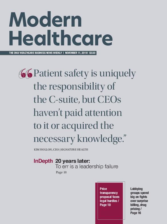 Modern Healthcare – November 11, 2019
