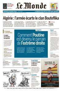 Le Monde du Jeudi 4 Avril 2019