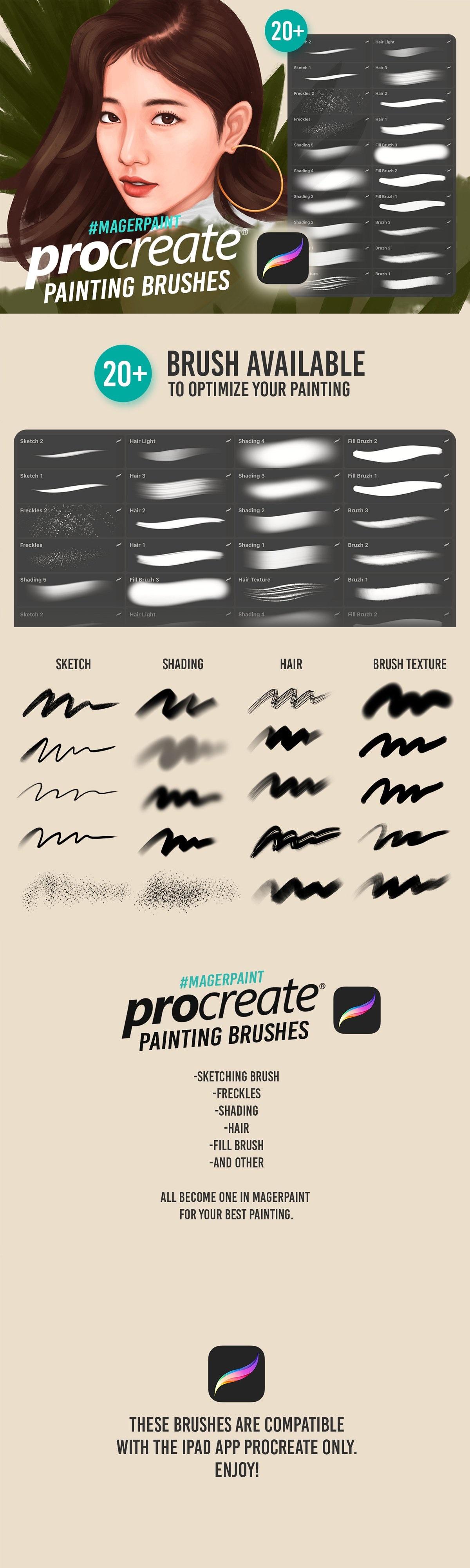 CreativeMarket - MAGERPAINT - Procreate Brushes 4093803