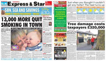 Express and Star Sandwell Edition – July 24, 2018