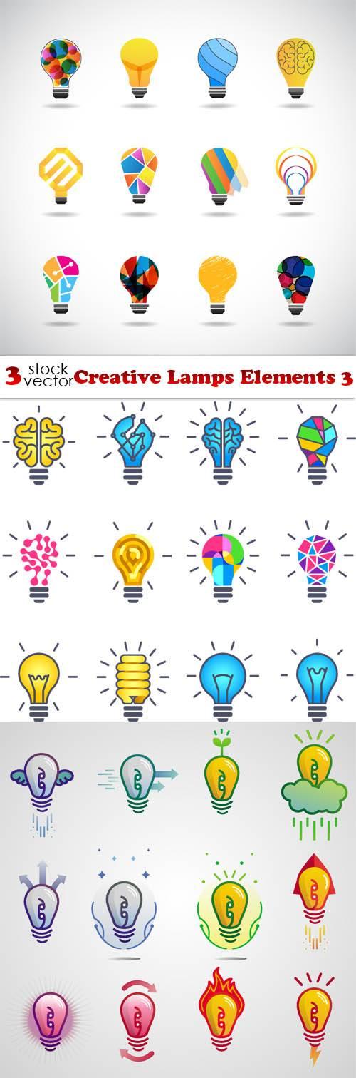Vectors - Creative Lamps Elements 3
