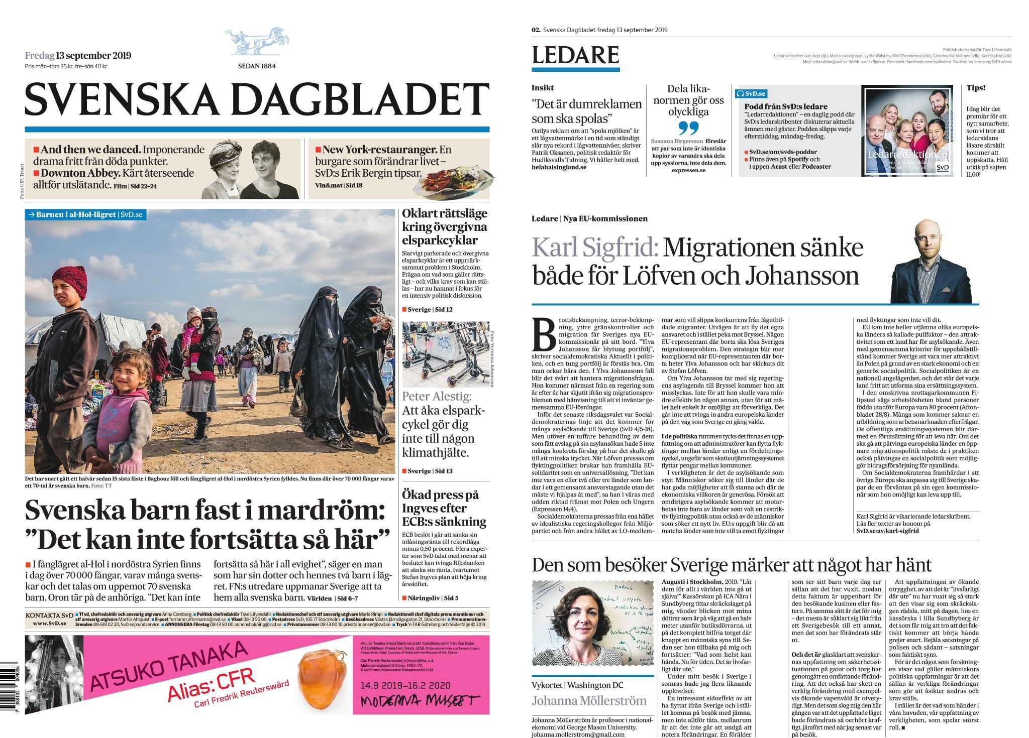 Svenska Dagbladet 13 September 2019 Avaxhome