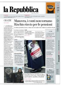 la Repubblica - 11 Ottobre 2018
