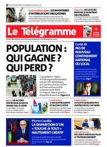 Le Télégramme Ouest Cornouaille – 30 décembre 2020