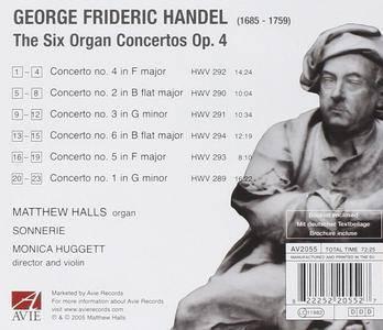 Sonnerie, Matthew Halls, Monica Huggett - Handel: Six Organ Concertos Op. 4 (2006)