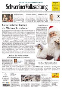 Schweriner Volkszeitung 24.12.2009 (Ausgabe Schwerin) + Frohes Fest