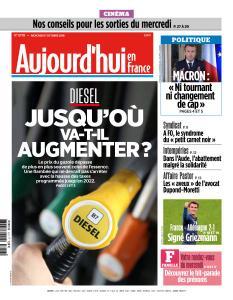 Aujourd'hui en France du Mercredi 17 Octobre 2018