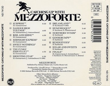 Mezzoforte Catching Up With Mezzoforte 1983 Avaxhome