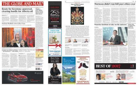 The Globe and Mail – November 21, 2017