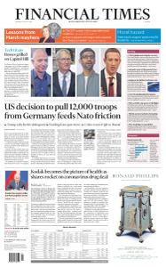 Financial Times Europe - July 30, 2020