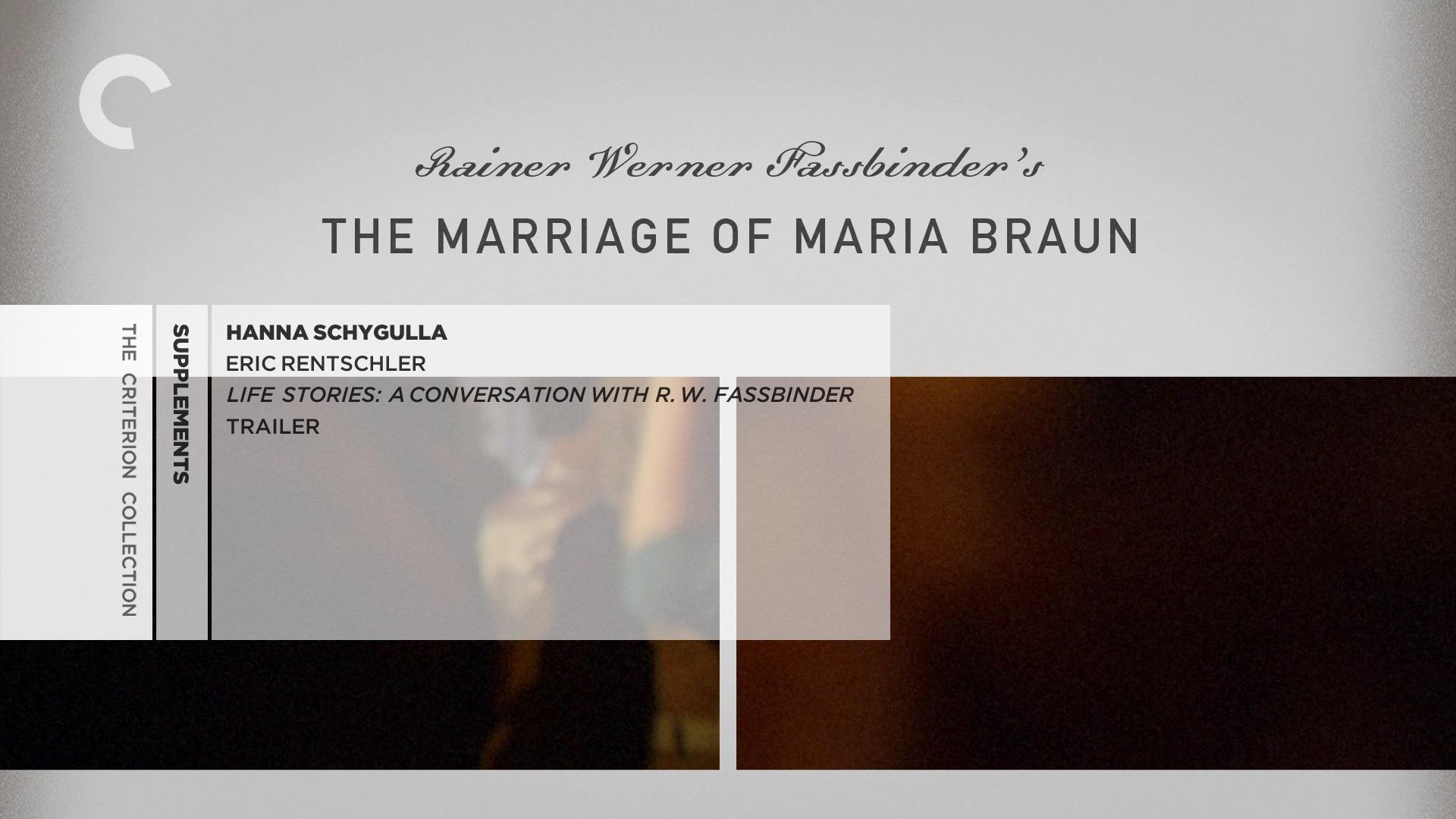 The Marriage of Maria Braun / Die Ehe der Maria Braun (1979)  [Criterion Collection]