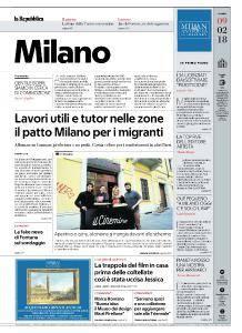 la Repubblica Milano - 9 Febbraio 2018
