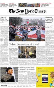 International New York Times - 31 August 2020