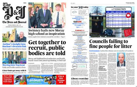 The Press and Journal Moray – October 23, 2018